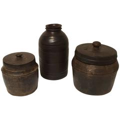 19th Century Tibetan Wooden Containers