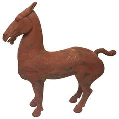Ancient Han Dynasty Horse with Pigments