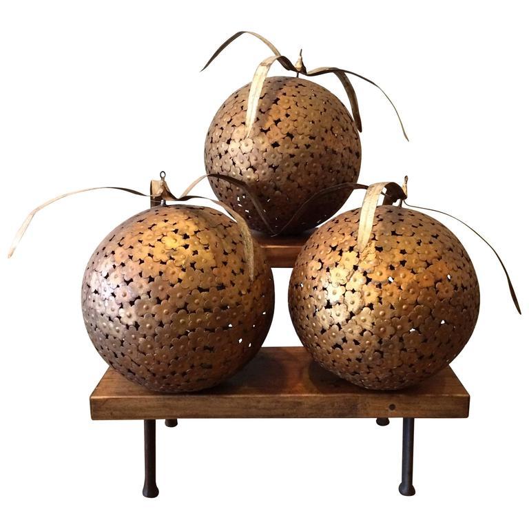 1960s Macy's Decorative Steel Ball Ornaments