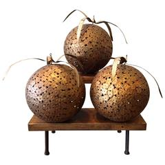 1960s Macy's Decorative Steel Ball Ornaments