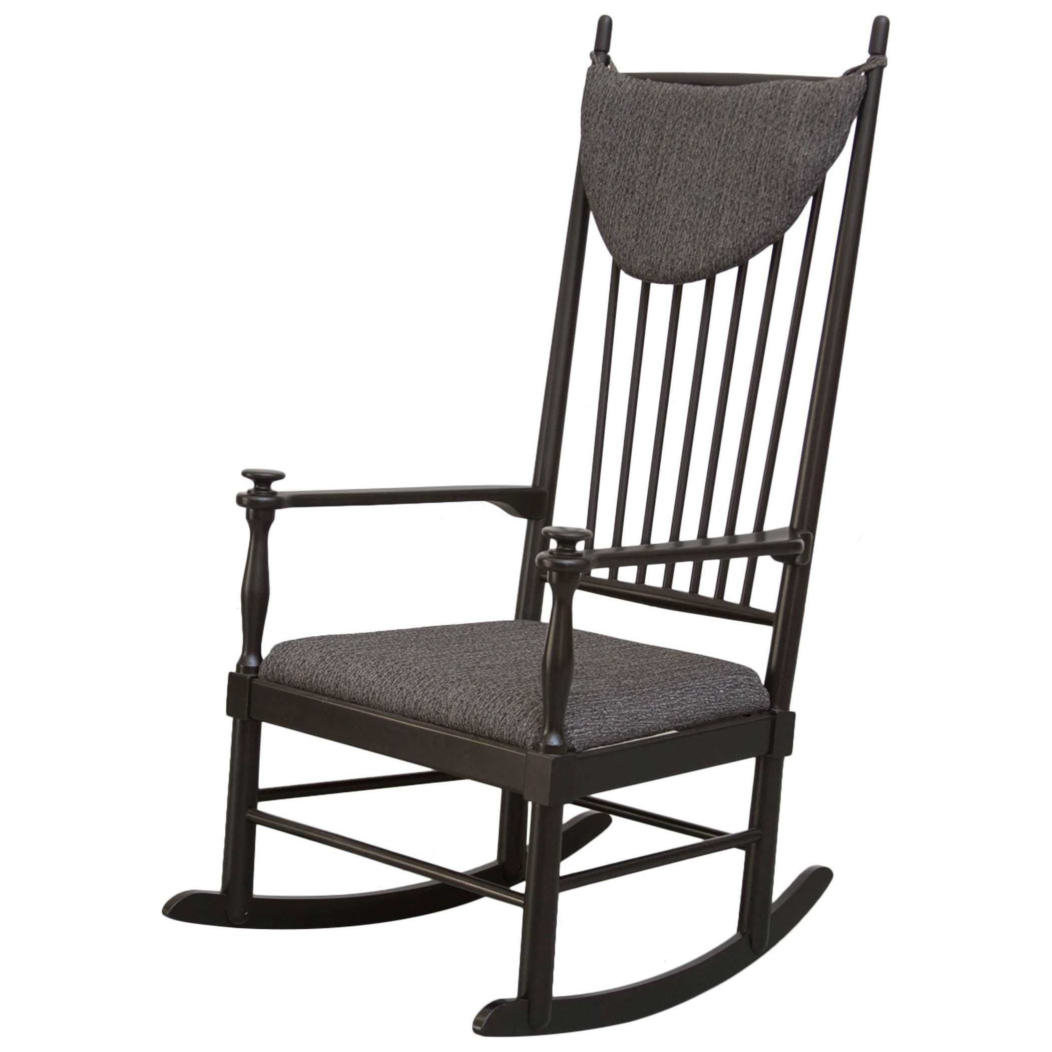 Tapiovaara Style High Back Rocking Chair