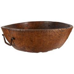 Hand-Carved Black Walnut Bowl