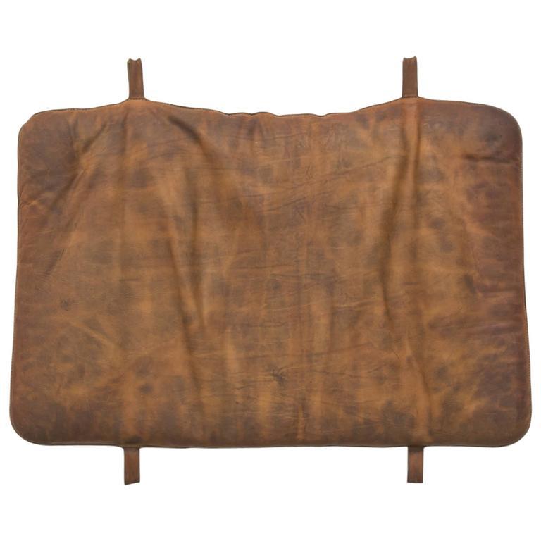 Vintage Leather Gymnastics Tumble Mat