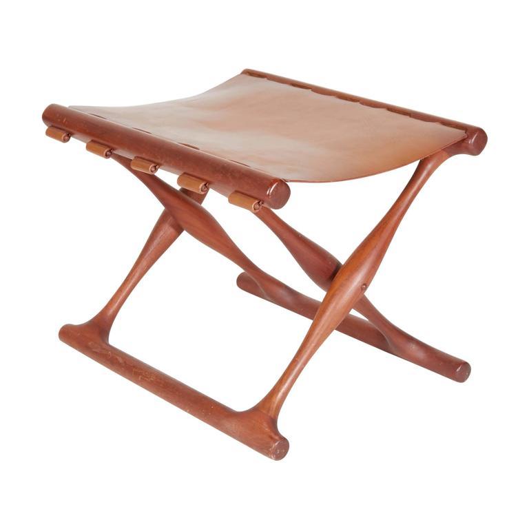 Poul Hundevad Folding Stool For Sale