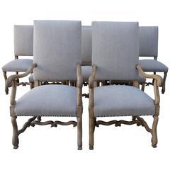 19th Century Spanish Dining Chairs, Ten
