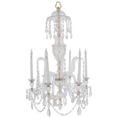 Irish Cut-Glass Chandelier, circa 1810