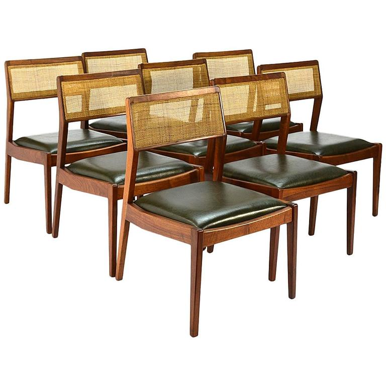 Set of eight jens risom 39 playboy 39 dining chairs at 1stdibs - Jens risom dining chairs ...