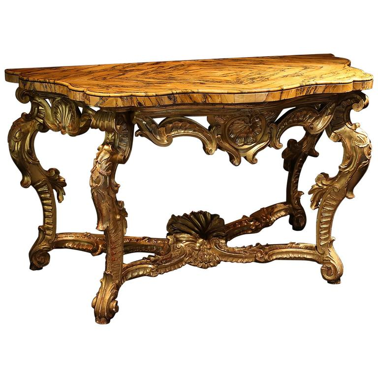 18th Century Roman Giltwood Console Table