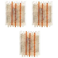 Three Italian 1960s Wall Lights by Poliarte