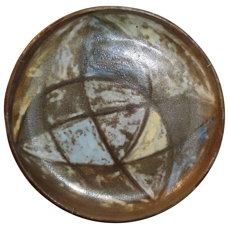 Alexandre Kostanda, Vallauris Ceramic Large Plate, circa 1950
