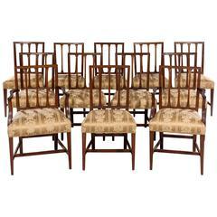 12 Dining Chairs Mahogany