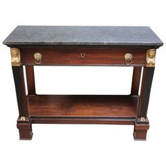 Early 19th Century French Egyptian Revival Console