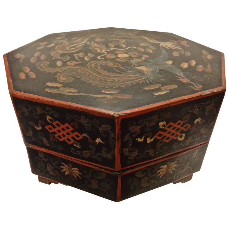 Chinese Octagonal Wedding Box At 1stdibs