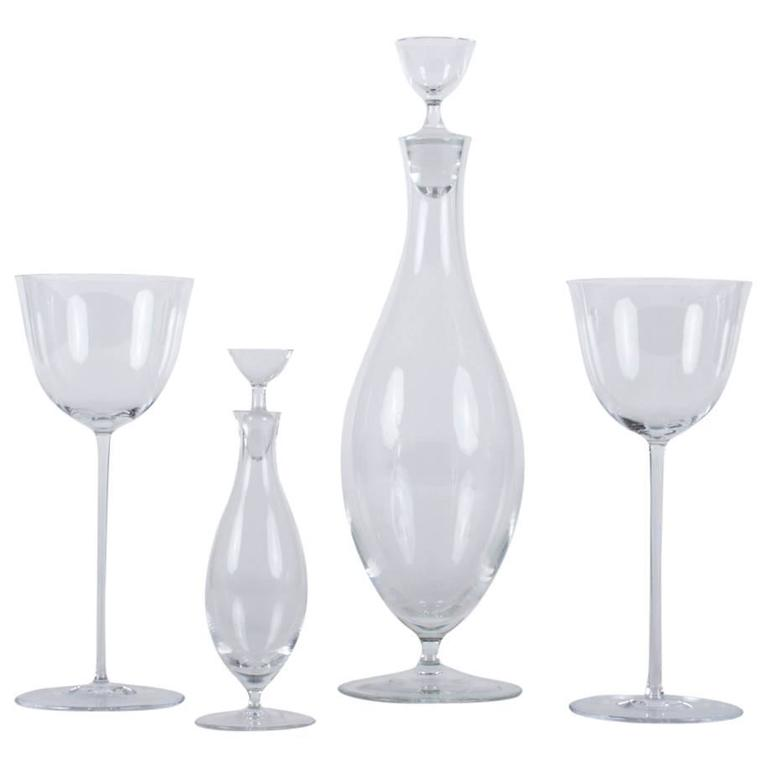 Fantastic Set of Josef Hoffmann Glasses from the Patrician Series for Lobmeyr