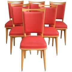 Set of Six Chairs Melchiorre Bega Style
