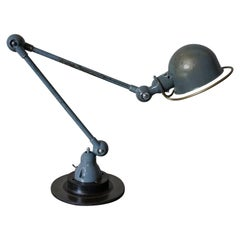 Industrial Articulated Grey Desk Lamp from Jieldé, 1950s