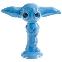 Momonster Blue Julian Ceramic Sculpture by Giovanni Motta