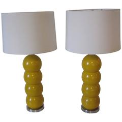 George Kovacs Ball Table Lamps