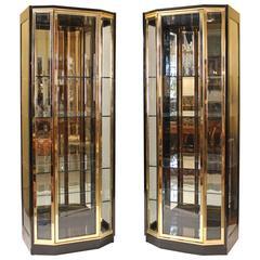 Pair of Henredon Display Cabinets