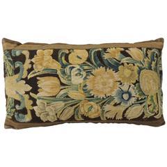 18th Century Flemish Tapestry Bolster Pillow