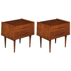 Pair of Swedish Nightstands by Edmund Spence