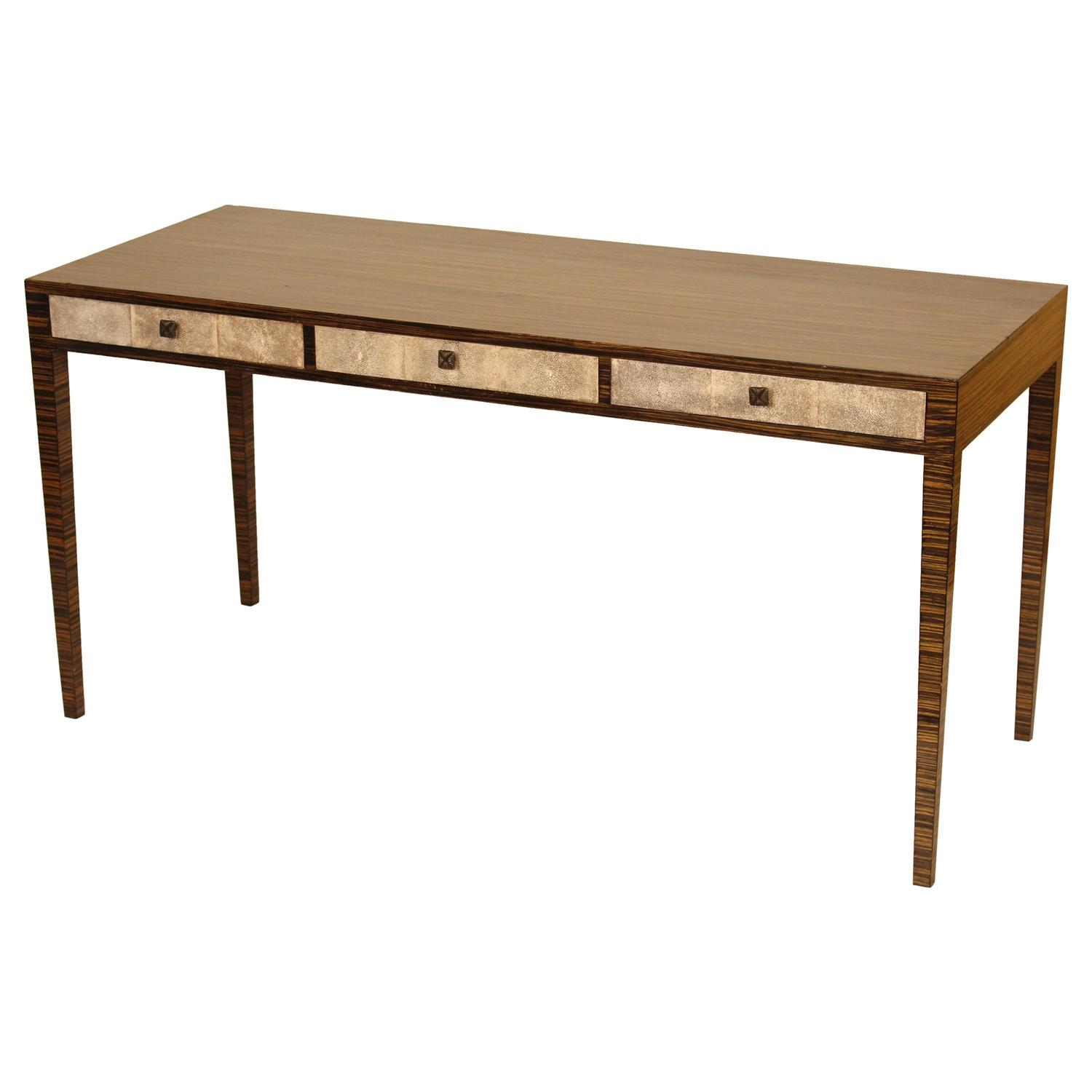 Zebra Wood Desk For Sale At 1stdibs