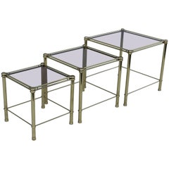 Mid-Century Modern Italian Brass Nesting Tables