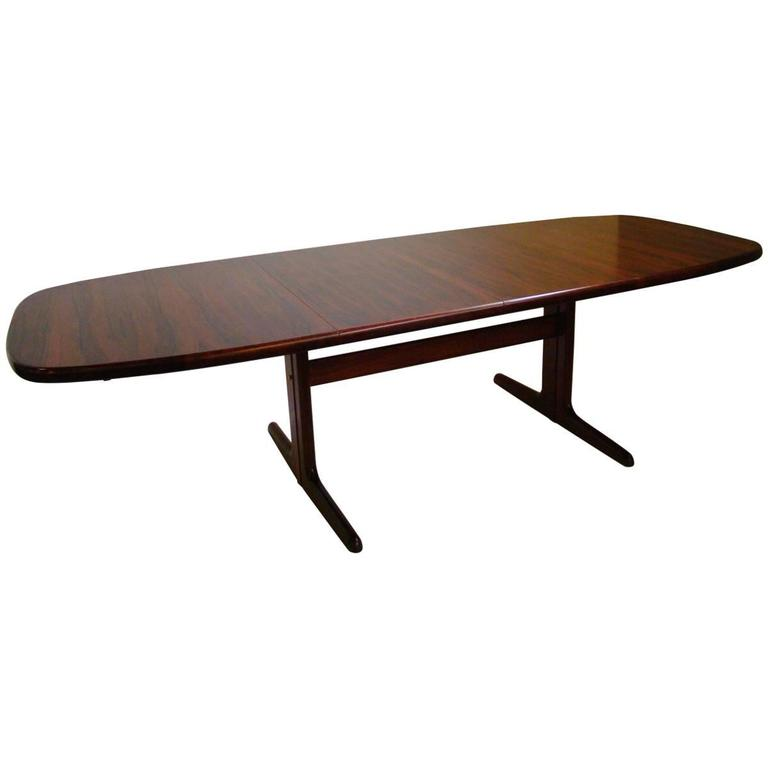 Rosewood dining table by skovby denmark at 1stdibs