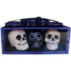 Fritz Scholder Sculpture, circa 1980s, Three Skulls