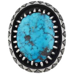 Vintage Turquoise Ring by Kenneth Begay, circa 1960