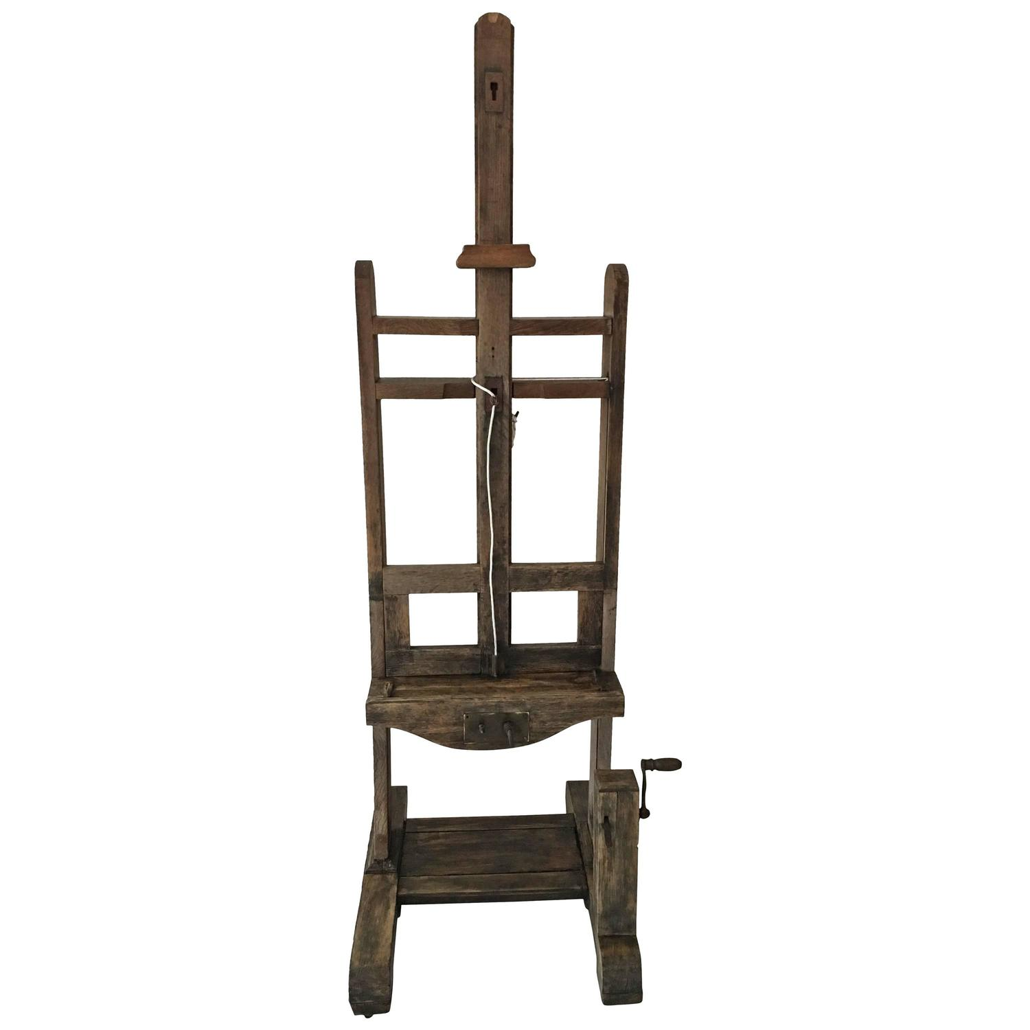 19th Century Artist Studio Oak Easel For Sale At 1stdibs