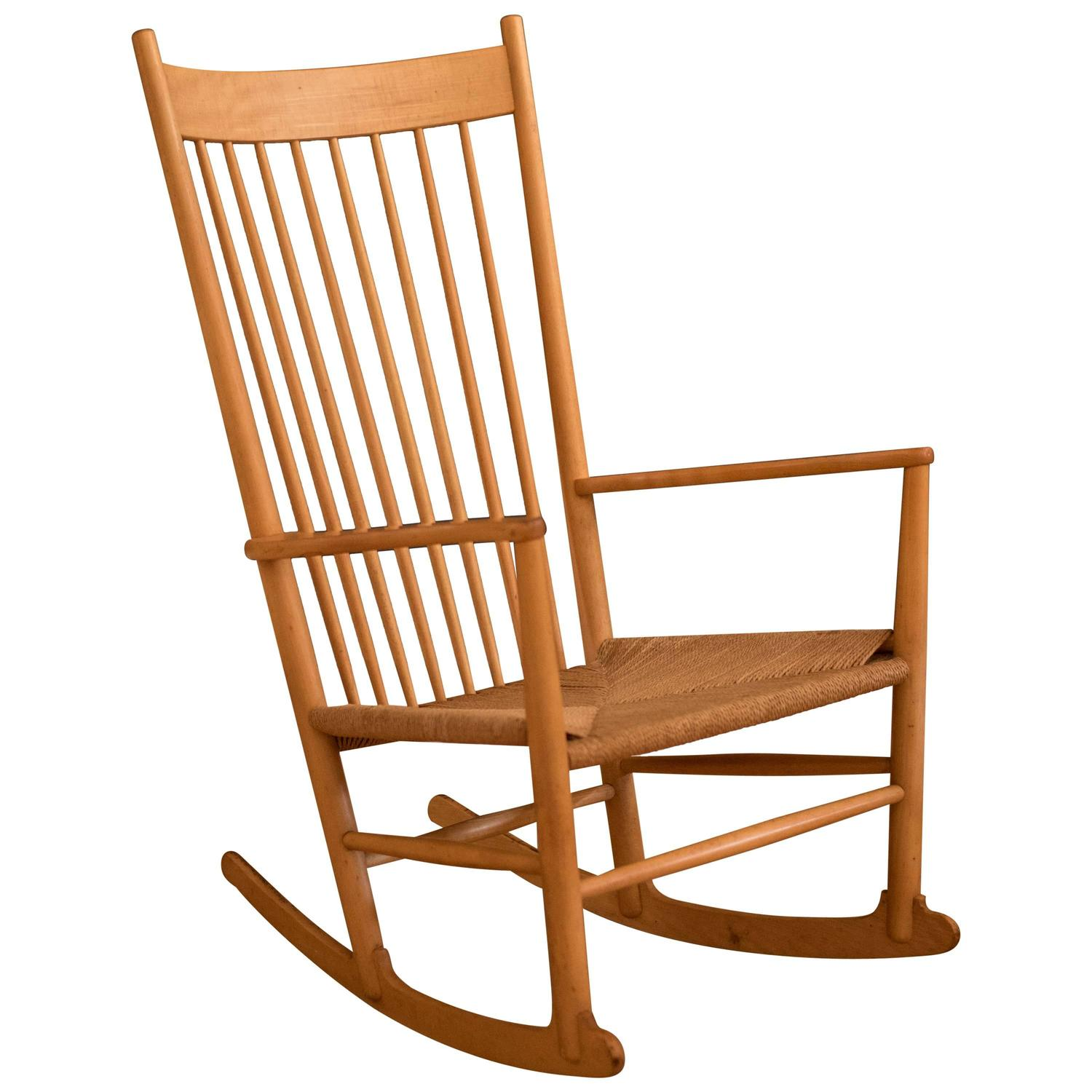 Vintage Danish Hans Wegner J-16 Rocker For Sale at 1stdibs
