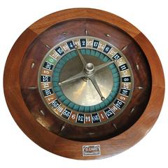"Mahogany and Bronze Casino Roulette Wheel by ""G. Caro Paris"""