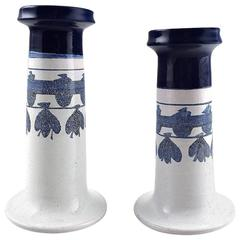 Bjorn Wiinblad Two Candlesticks from the Blue House