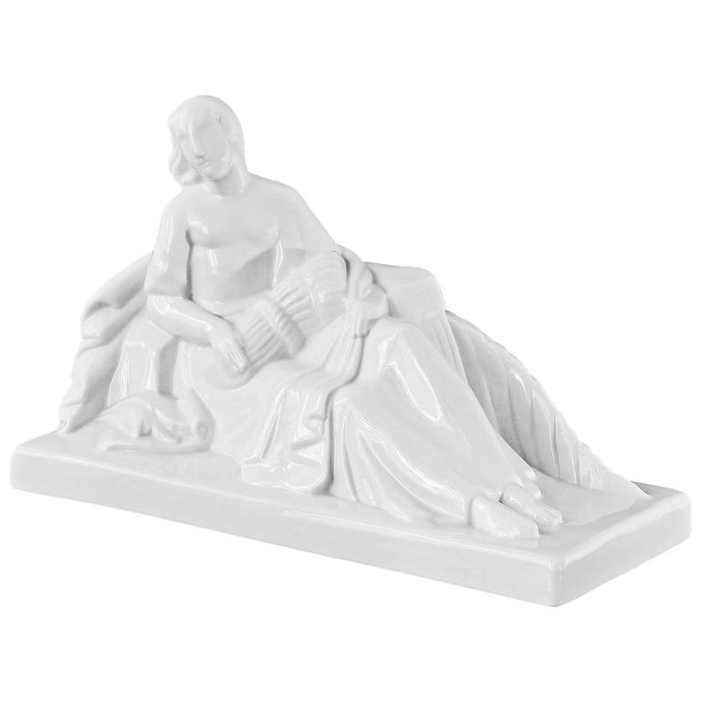 """Abundance,"" Large and Rare Allegorical, Art Deco Sculpture by De Vegh"