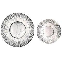 Pair of Kähler, Denmark, Round Glazed Bowls, 1930s