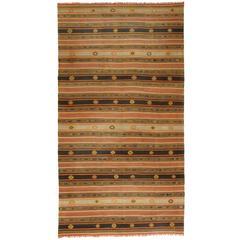 Vintage Turkish Handwoven Kilim