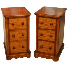 Pair of Mahogany Victorian Period Antique Bedside Chests