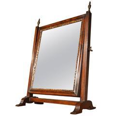 Mahogany George III Period Antique Dressing Mirror