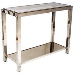 Chrome Console Table in the Style of Romeo Rega