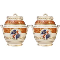 Pair of Armorial Ice Pails Flight & Barr Worcester, Irish Coat of Arms