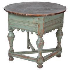 18th Century Swedish Folding Center Table