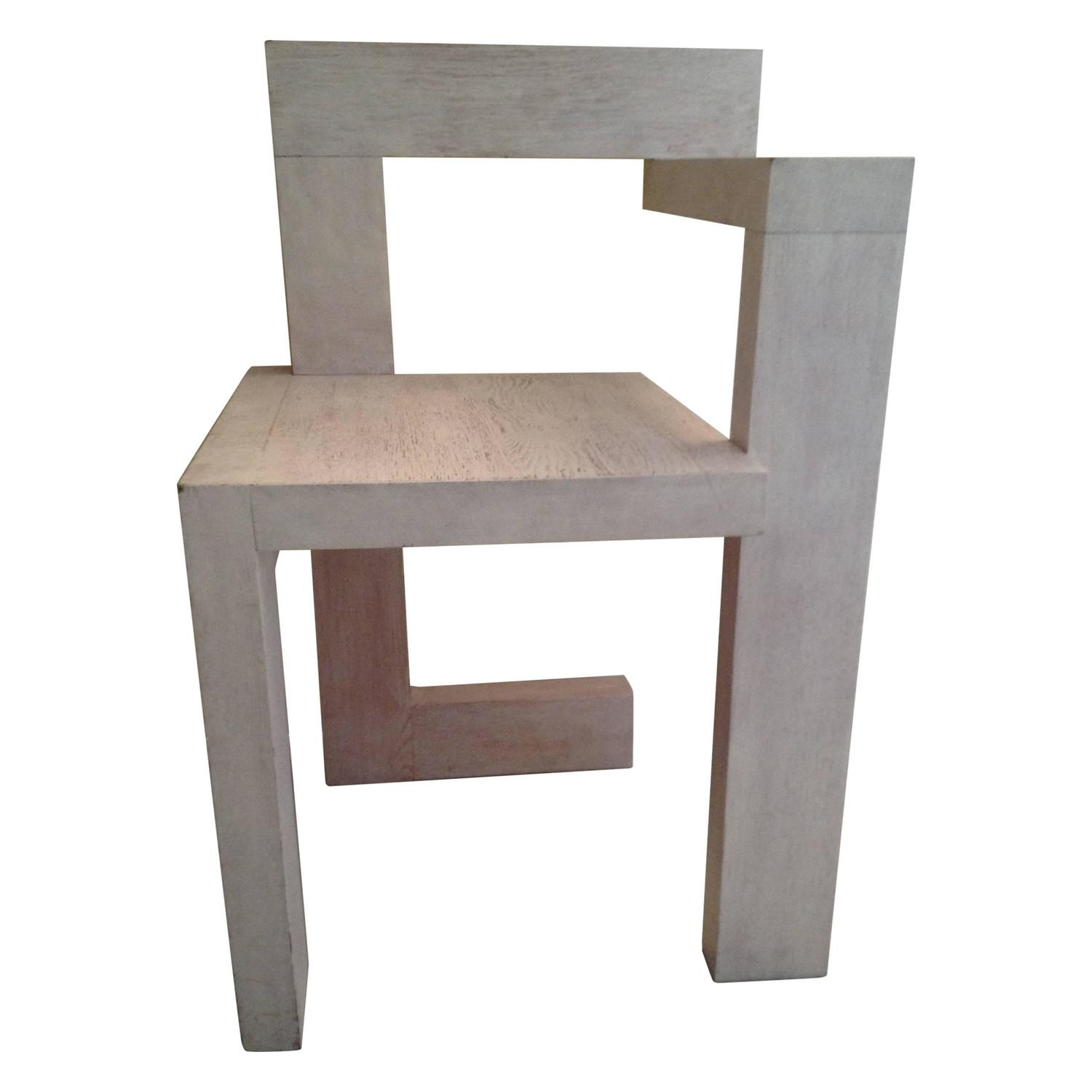Gerrit rietveld chair for sale - Steltman Chair By Gerrit Rietveld White Stained Oak 1963 For Sale At 1stdibs