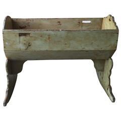 19th Century Italian Wooden Cradle