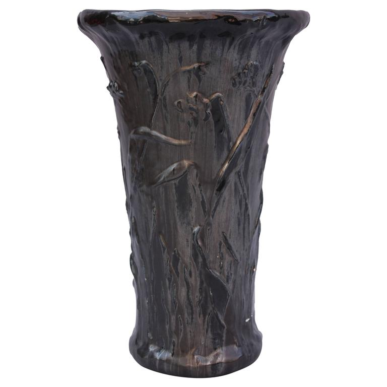 Tall Black Vases