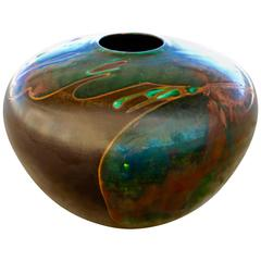 Impressive Tony Evans Raku Centerpiece in Most Unusual Colors