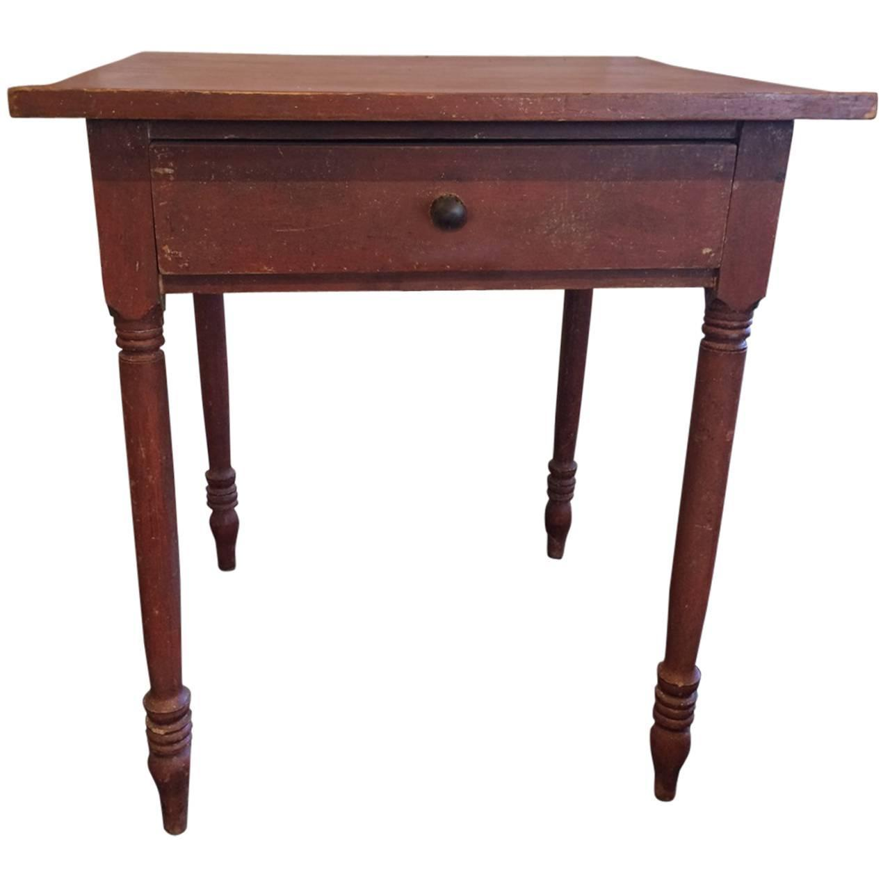 Antique red painted side table at 1stdibs for Red side table