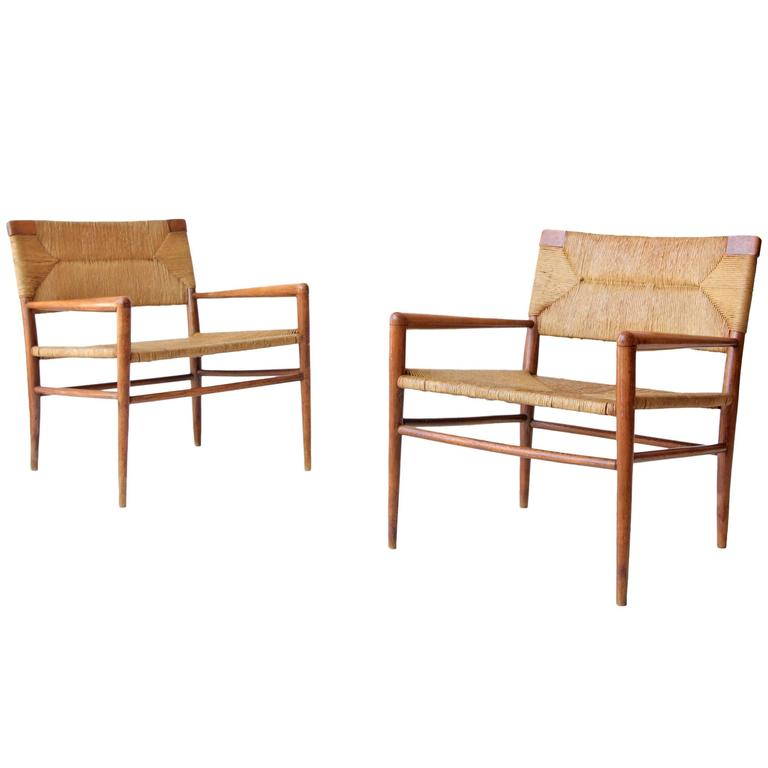 Mel Smilow For Smilow Thielle Woven Lounge Chairs For Sale