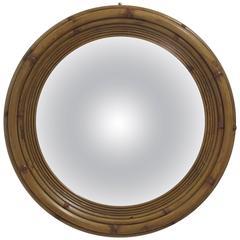 Large Wood Convex Mirror