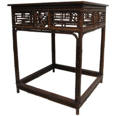 Antique Chinese Bamboo Table c1880